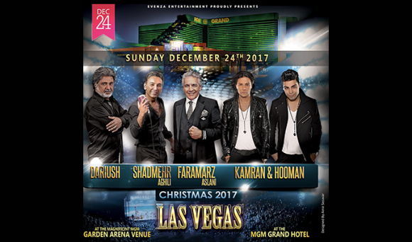 Persian Stars: Dariush, Shahmehr Aghili & Faramarz Aslani at MGM Grand Garden Arena