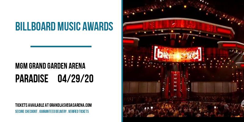 Billboard Music Awards at MGM Grand Garden Arena