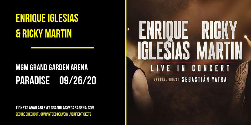 Enrique Iglesias & Ricky Martin at MGM Grand Garden Arena