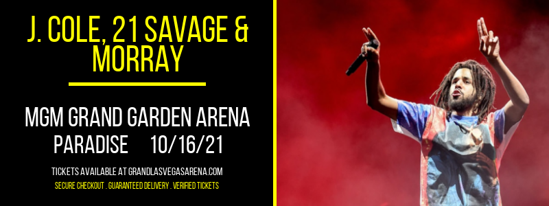 J. Cole, 21 Savage & Morray at MGM Grand Garden Arena