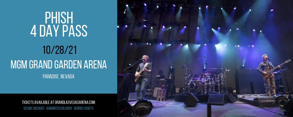 Phish - 4 Day Pass at MGM Grand Garden Arena